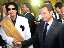 Sarkozy, Gaddafi, Libya, France, Handshake, Freemasonry, Freemasons, Freemason, Masonic, Symbols