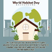 World Habitat Day Quotes, Slogan, Status, Thoughts, Messages & Theme