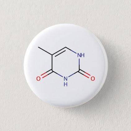 Thymine Molecule Button