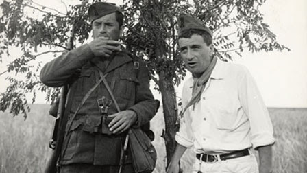 Arthur Kennedy and Peter Falk in Attack and Retreat