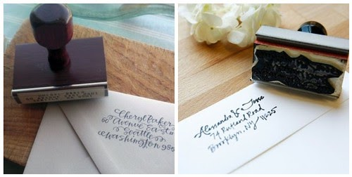 Wedding Stationery Hand Calligraphed Return Address Stamps Things Festive
