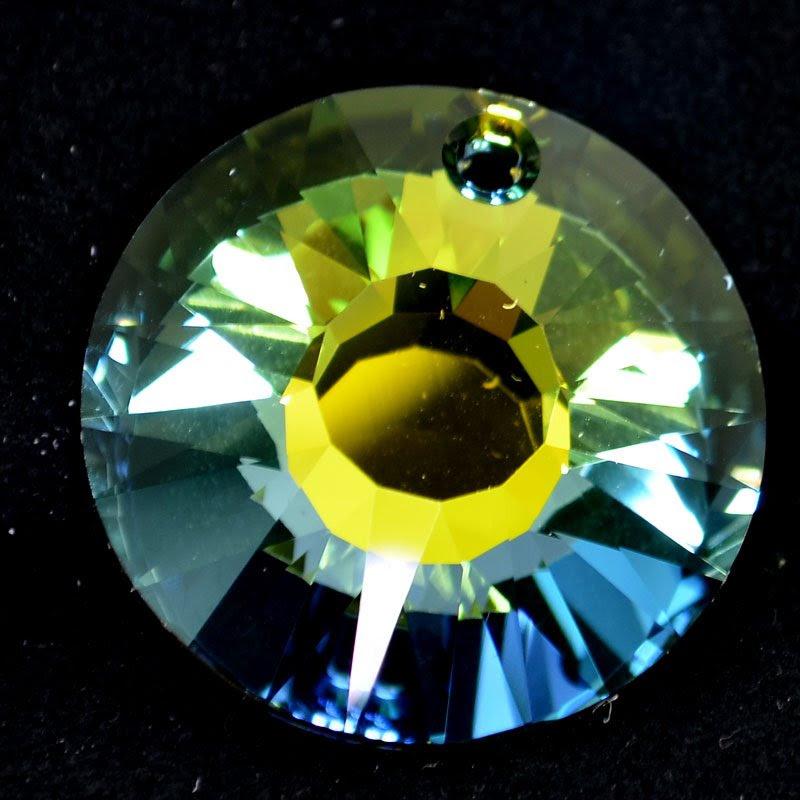 34767241551006 Swarovski Crystal Pendant - 33 mm Sun (6724) - Crystal Sahara (1)