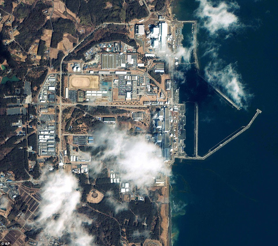 Crisis: The nuclear power plant at Fukushima, Japan, where workers are battling to prevent an escalation of the radiation leak and meltdown threat