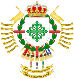 Coat of Arms of the 10th Armored Cavalry Regiment Alcántara.svg
