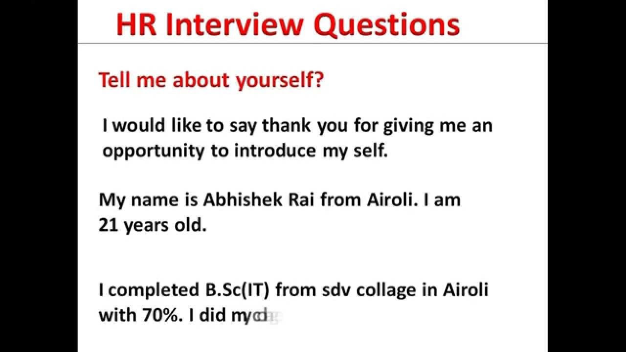 Learn To Introduce Yourself | Tell Me About Yourself | Introduce Yourself | HR Interview Questions