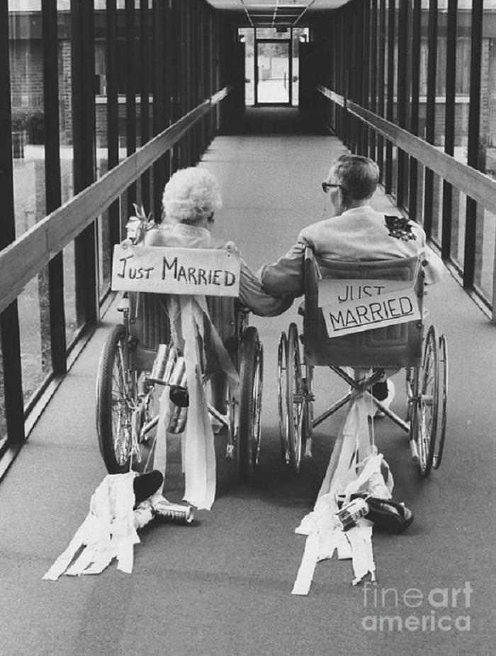 amor, velhos, casais