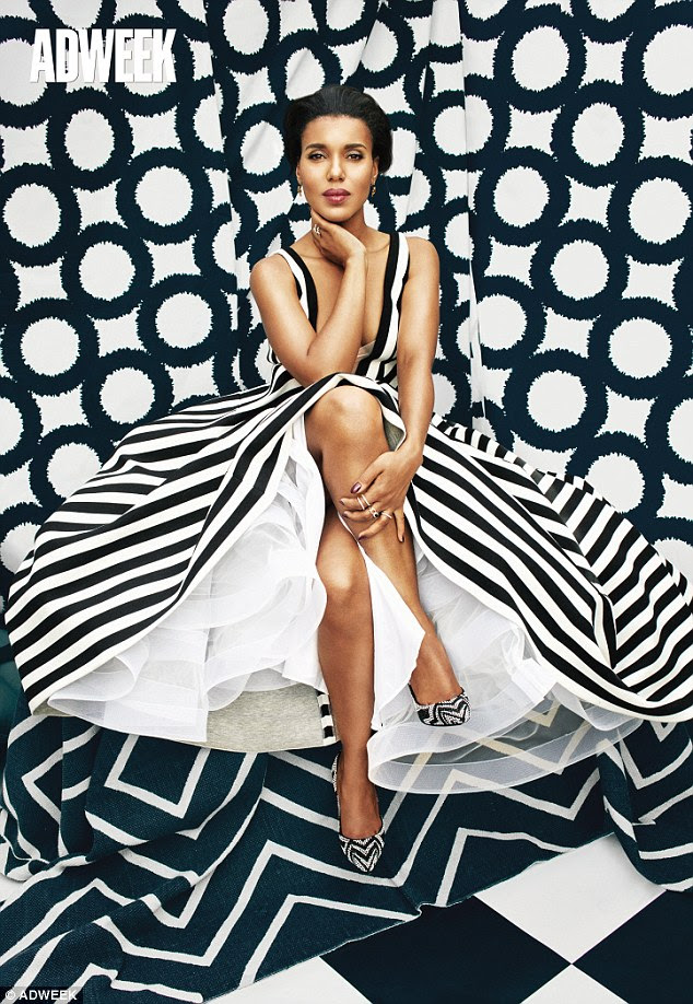 Bold and beautiful: Kerry Washington looks amazing in a photoshoot for Adweek as she talks about the end of Scandal