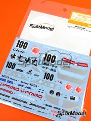Shunko Models: Calcas escala 1/24 - Honda Civic Mugen Primo Nº 100 1992 - para kit de Hasegawa