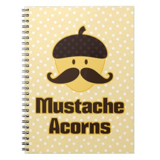 (Must Stash) Mustache Acorns Note Books