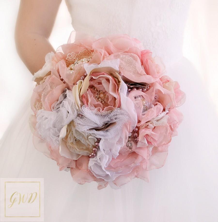 Brooch Bouquet Bridal Bouquet Wedding Bouquet Bridesmaids Bouquet Blush Pink Bouquet Fabric Flowers Bouquet Wedding Dress Custom Bouquet 2660747 Weddbook
