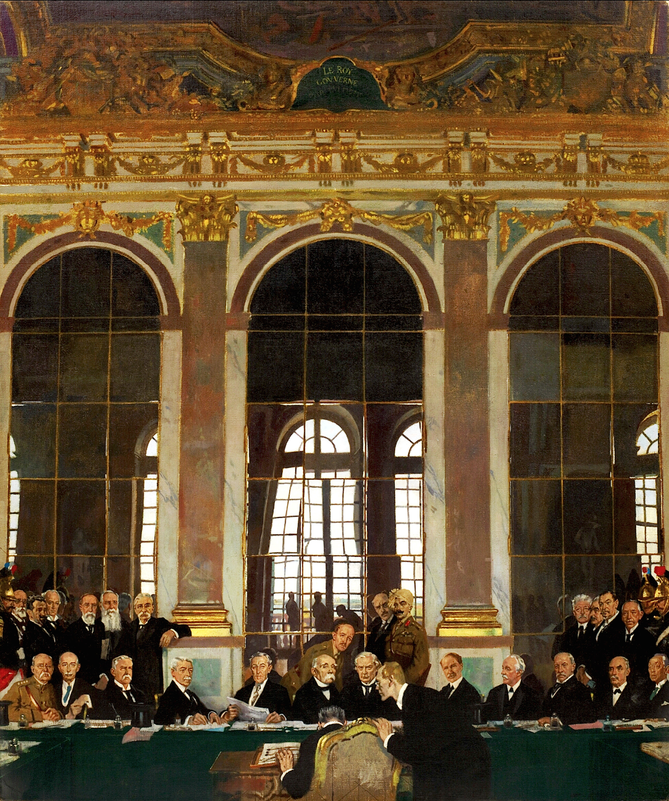 The Signing of the Versailles Treaty in the Hall of Mirrors