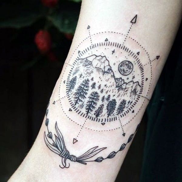 Deep and Super Cool Forest Tattoo Ideas (38)