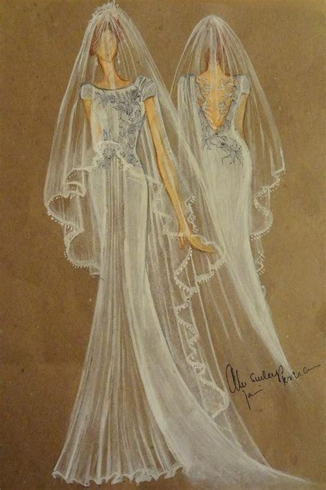 Designer Dress Sketches for Jennifer Aniston's Wedding Day