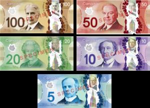 Loạt giấy bạc ngân hàng Canada mới nhất