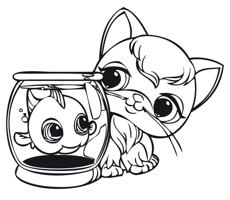 Imprimer Coloriage Dessins Série Littlest Pet Shop 22 Az Coloriage