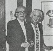 Mircea  Eliade con Christinel, su esposa