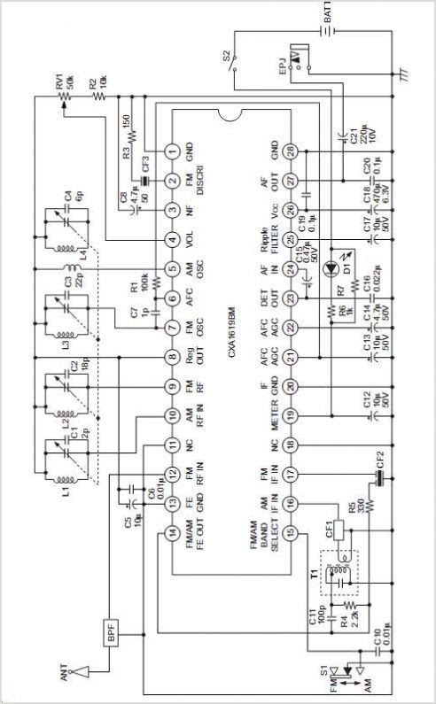 fm receiver circuit using ic cd1619cp