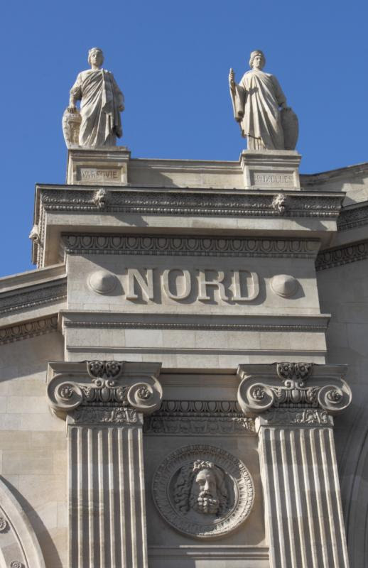 Detail of the Gare du Nord train station