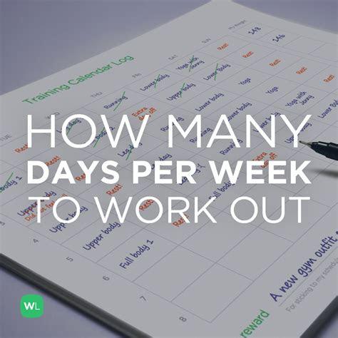 days  week   work    trainer