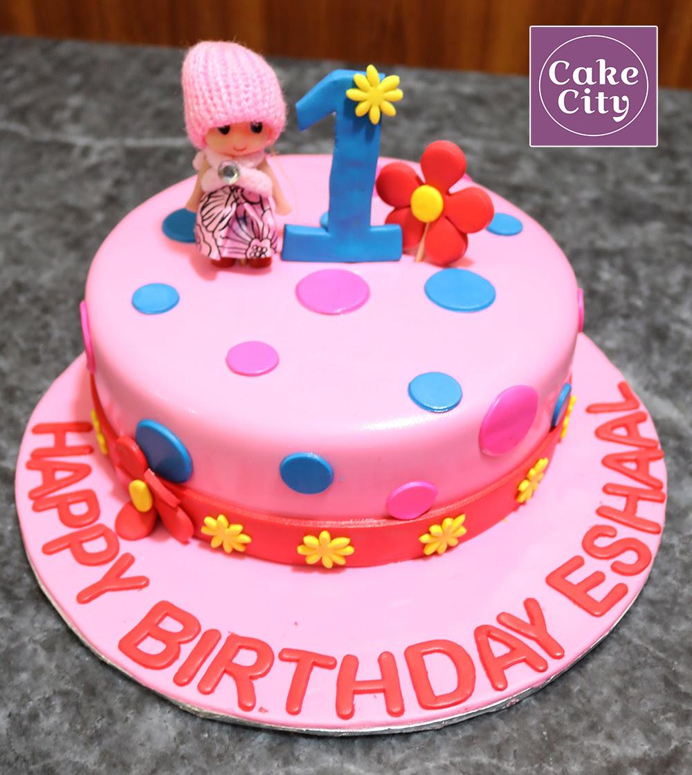 Doll 1st Kids Birthday Cake - Happy birthday cakes in Lahore