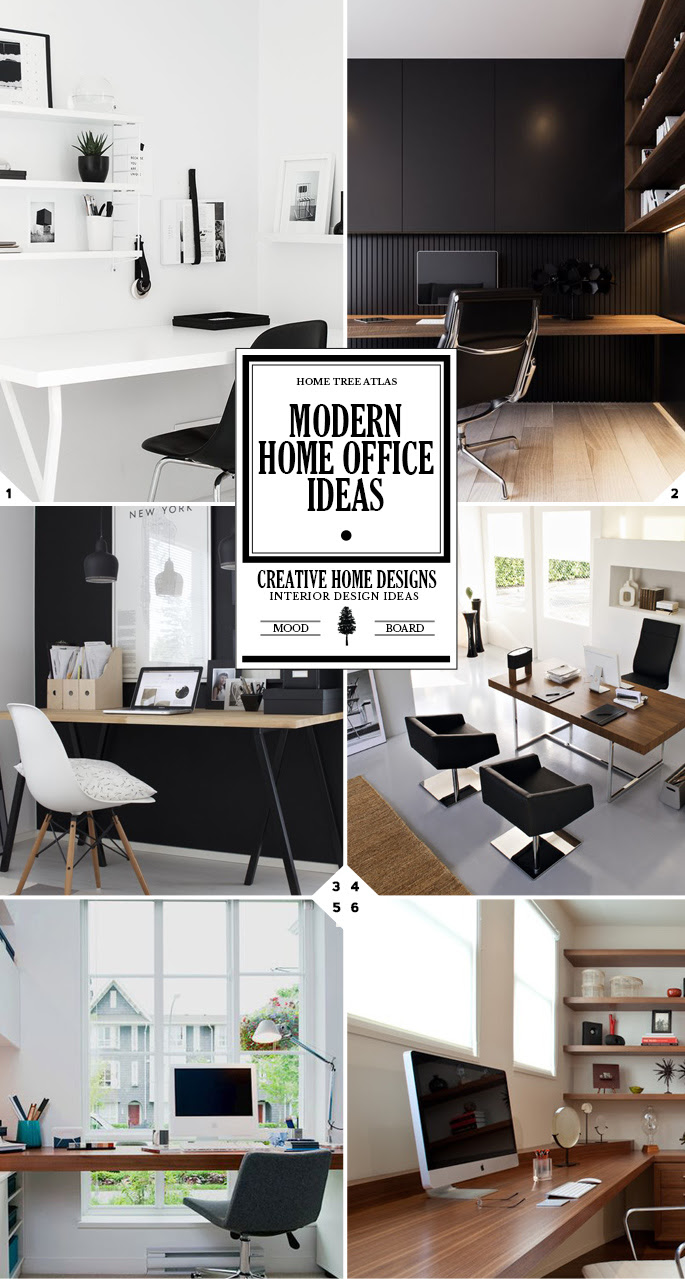 Creating A Stylish Workspace Modern Home Office Ideas Home Tree Atlas
