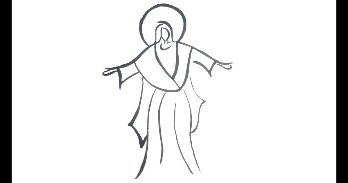 30 Top For Jesus Drawing Easy For Kids