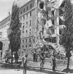 Le macerie dell'hotel King David