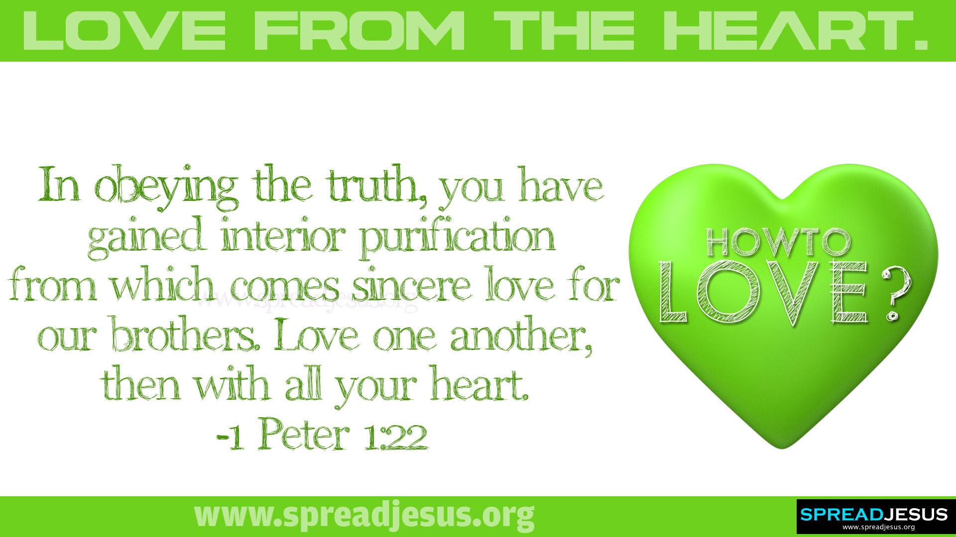 How to love LOVE FROM THE HEART