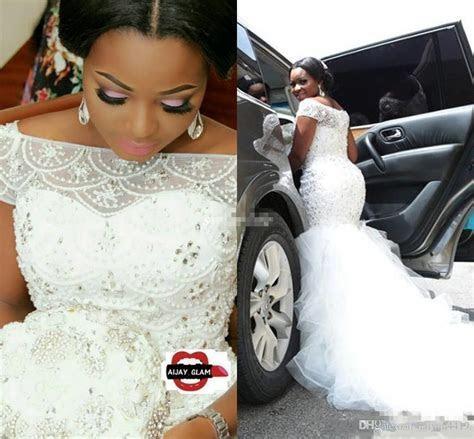 2017 Hot African Nigeria Mermaid Wedding Dresses Off