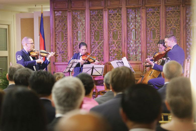 A quartet from the United States Air Force on Sunday recreate a concert that was performed 60 years ago for Cambodia's royals. US Embassy