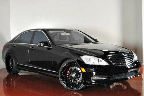 Purchase used 2011 MERCEDES BENZ S550 BLACK CUSTOM WHEELS ...