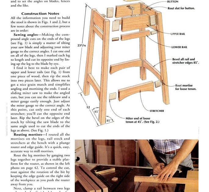 Get Saddle Seat Bar Stool Woodworking Plans Tom