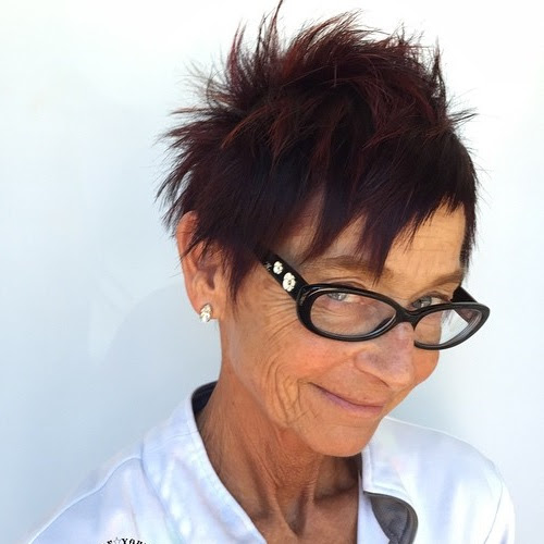 spiky short haircut for ladies over 70