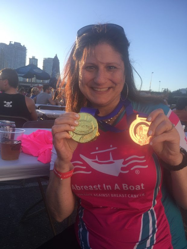 Life After Diagnosis: Richmond, BC's Shelley Behr Crews Up with Abreast in a Boat Initiative
