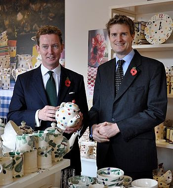 English: Tristram Hunt MP with Energy Minister...