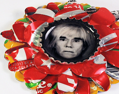 Andy Warhol  Shrine Brooch from recycled metal OOAK