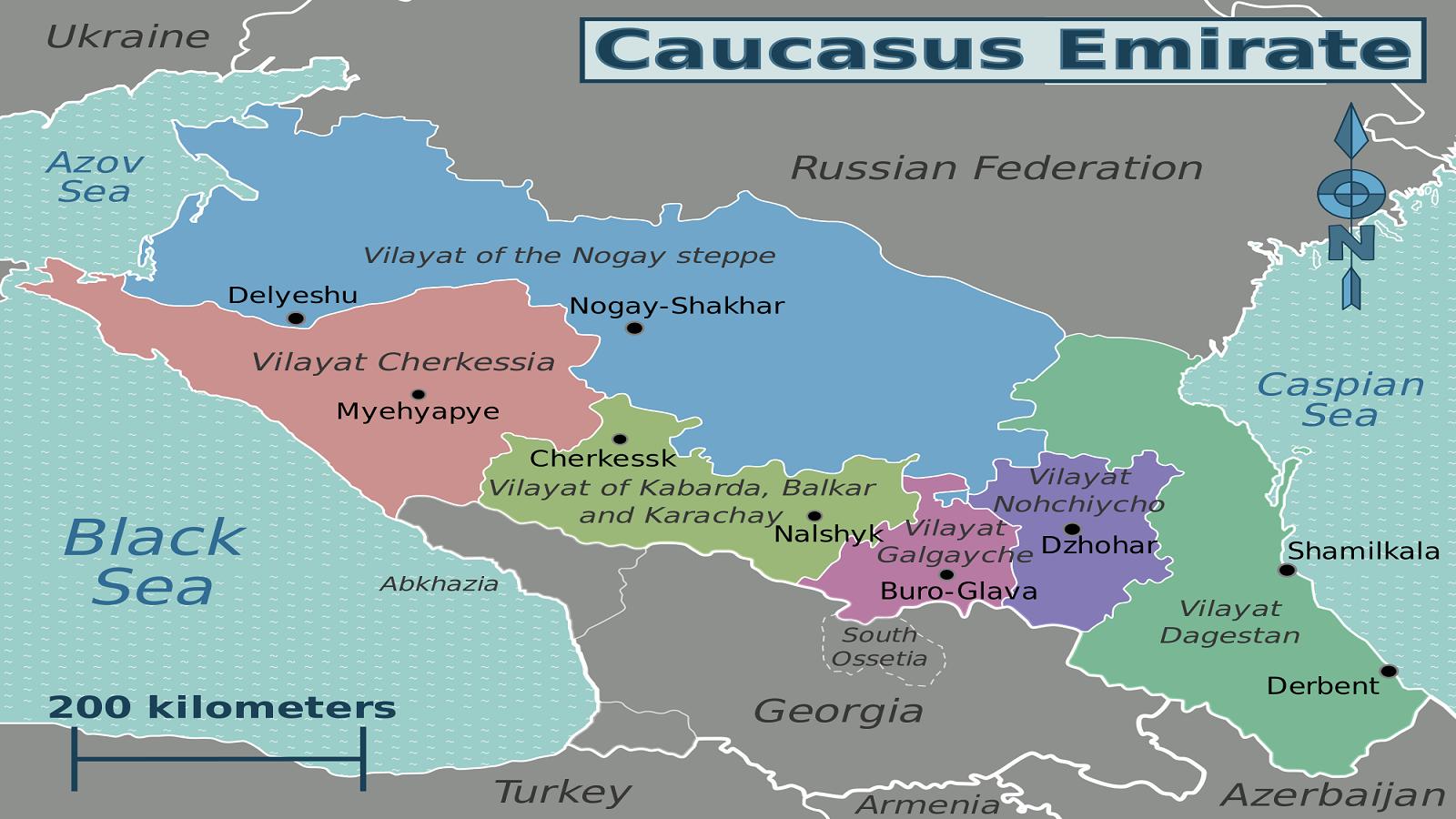 Risultati immagini per emirato del caucaso