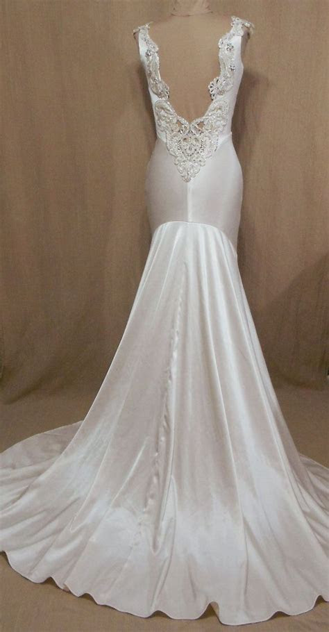 Old Hollywood 1930's style wedding dress   #