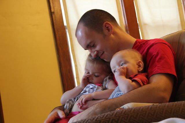 Dad and Children, reunited