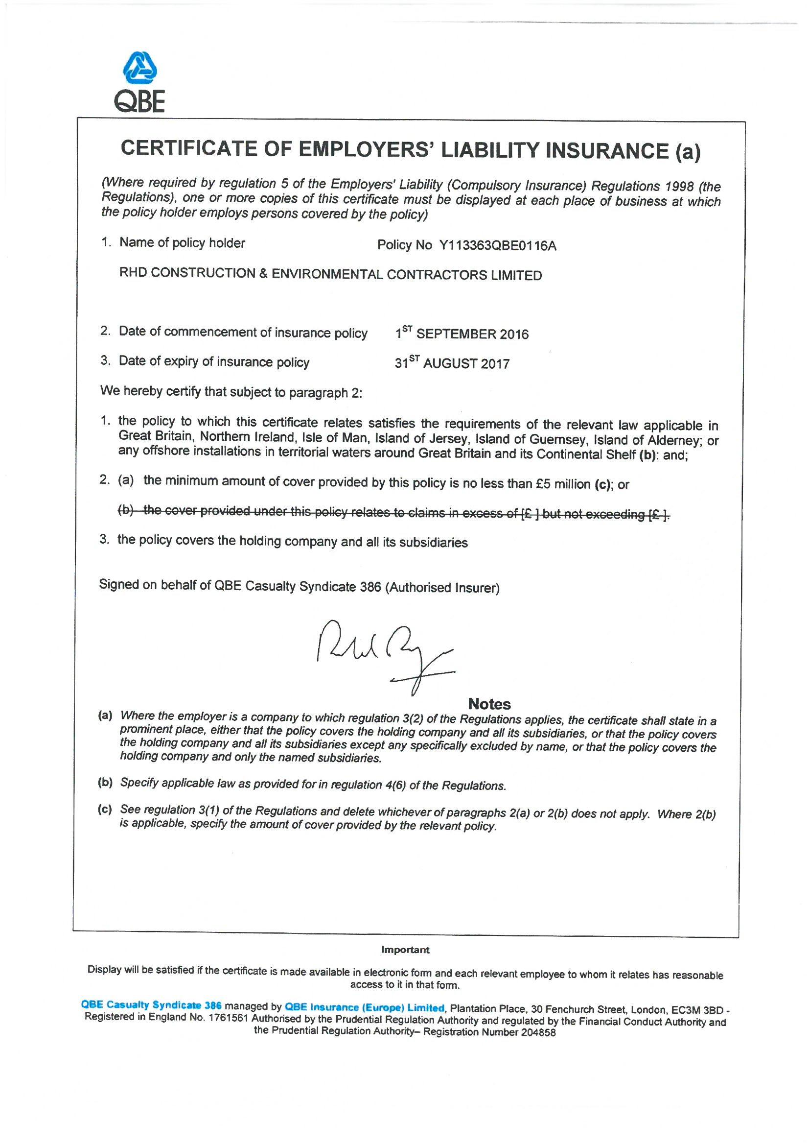 Accreditations | RHD Construction & Environmental ...