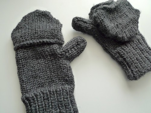 Mens Mittens Knitting Pattern : milly and tilly: Mens Loom Knit Convertible Mittens