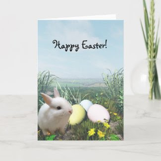 Happy Easter! Easter Bunny and Easter Eggs card