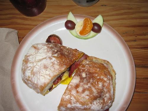 Lynne's Paper Boy sandwich