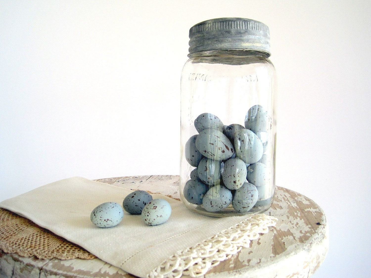 Decorative Robins Eggs Blue Faux Artificial DIY Wedding / Terrarium Supplies - BirdinHandVTG