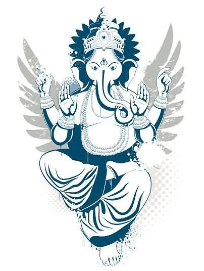 The Ganesh Elephant God Tattoo Design