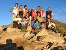 Familia en la cumbre de El Morrillo