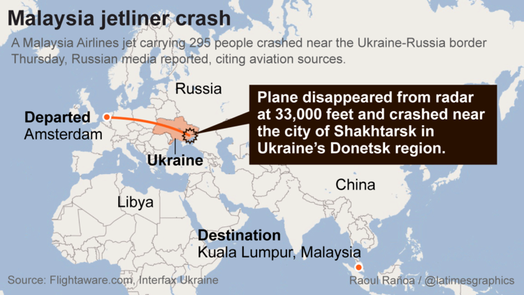 Malaysia jet airliner crash
