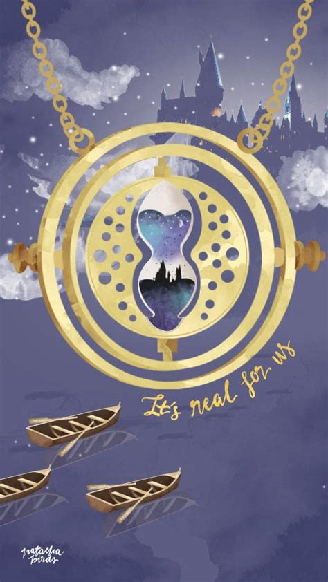 hermiones time turner harry potter iphone wallpaper