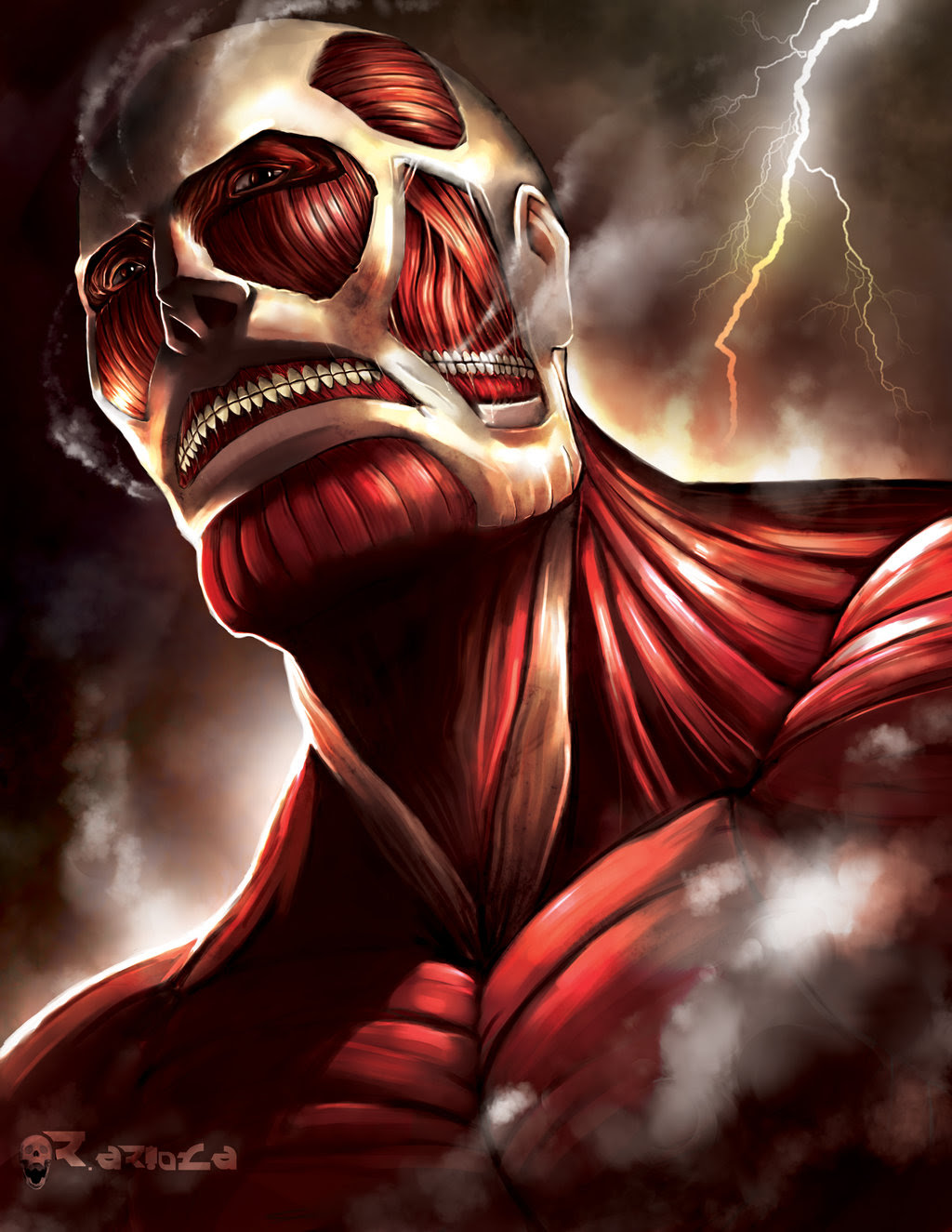 The Colossal Titan Shingeki No Kyojin Attack On Titan Fan Art 39173637 Fanpop