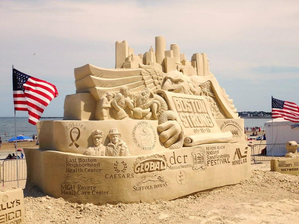 2013 revere beach sand sculpting festival boston strong